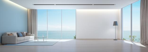 Modern interieur van vakantiehuis.