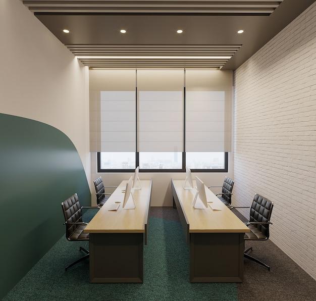 Modern kantoor interieur met bureau