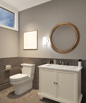 Modern klassiek ontwerp van damestoilet met leeg frame