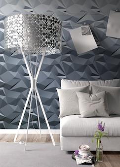 Modern licht interieur met mooie decoratie