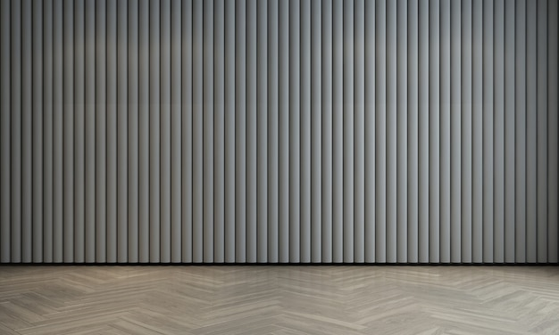 Modern luxe interieur en mock-up ontwerp van lege woonkamer en witte patroon muur textuur achtergrond