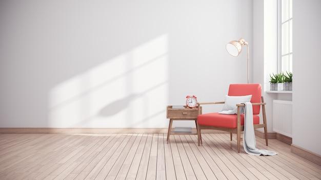 Modern minimalistisch interieur van woonkamer