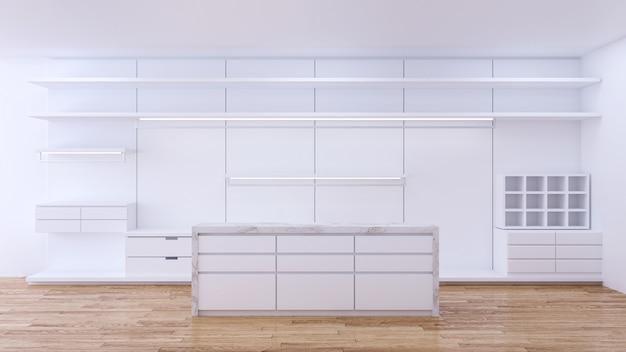Modern minimalistisch kleedkamerinterieur