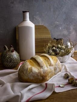 Modern stilleven met brood