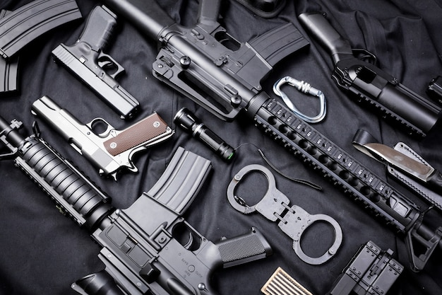 Modern wapen, zwart