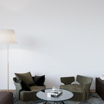 Modern woonbinnenland met fauteuils