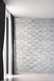 Modern woonkamer interieur en wit marmeren textuur muur patroon