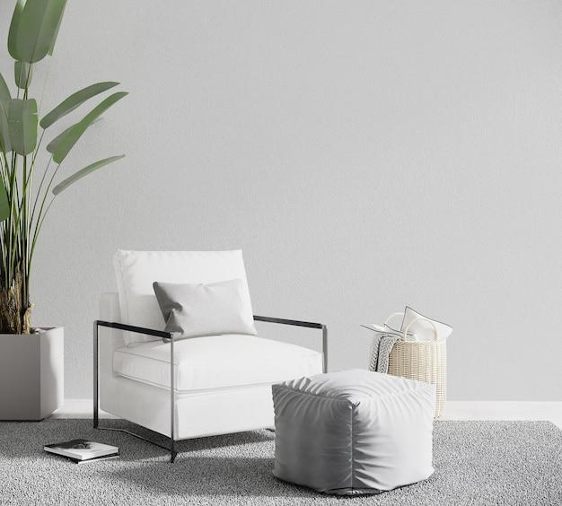 Modern woonkamerbinnenland met fauteuil