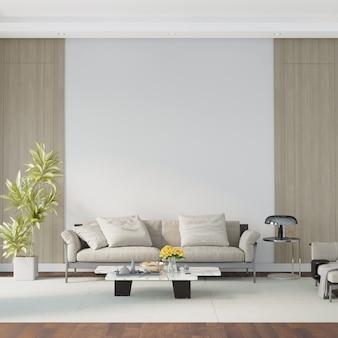 Modern woonkamerbinnenland met meubilair