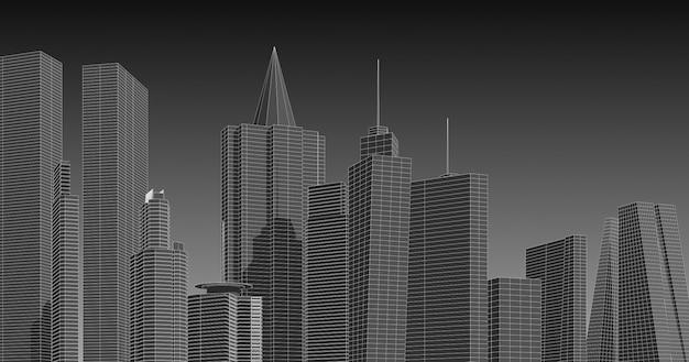 Moderne architectuur in een prachtige metropool