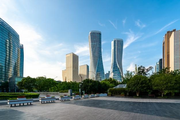 Moderne architectuur van stedelijke skyline