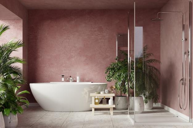 Moderne badkamer met ligbad