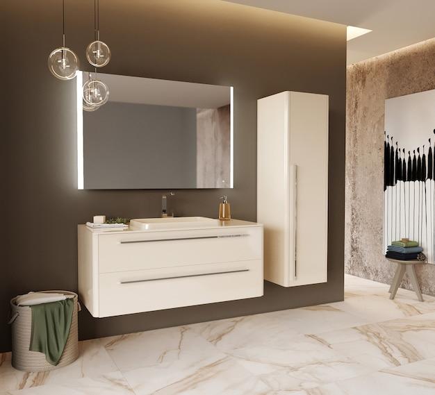 Moderne badkamer met meubel