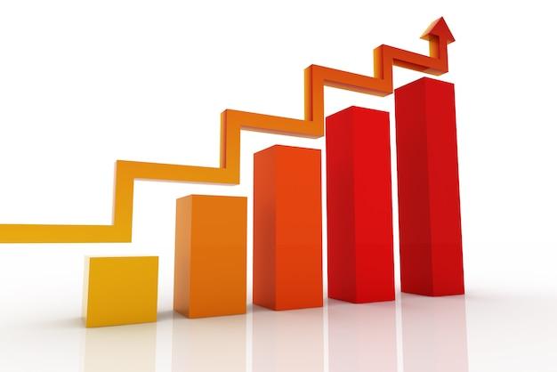 Moderne bedrijfsstappen aan succesgrafieken en grafiekenoptiesbanner - illustratie