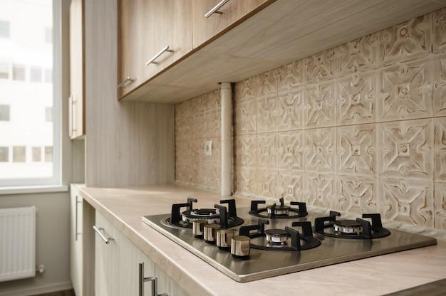 Moderne beige keuken