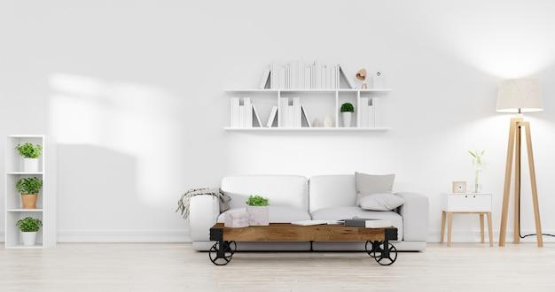 Moderne binnenlandse woonkamer. 3d-weergave