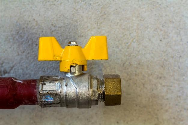 Moderne compacte sluitsystemen zorgen voor een betrouwbare werking van verschillende regelsystemen van gastoevoer. gasklep voor gaspijpleidingenclose-up