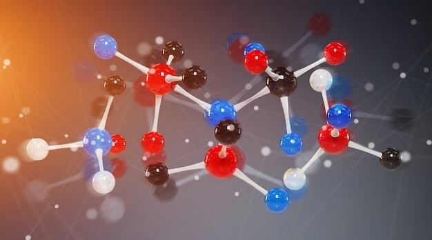 Moderne digitale molecuulstructuur
