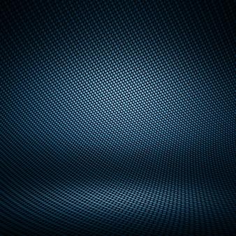 Moderne donkerblauwe koolstofvezel geweven binnenlandse studio met licht voor achtergrond