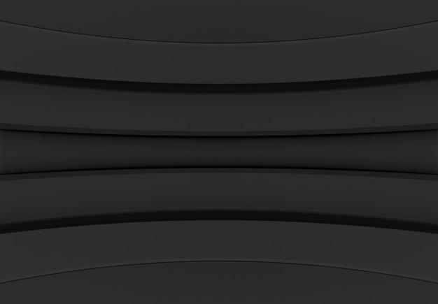 Moderne donkere curve paneel muur ontwerp achtergrond.