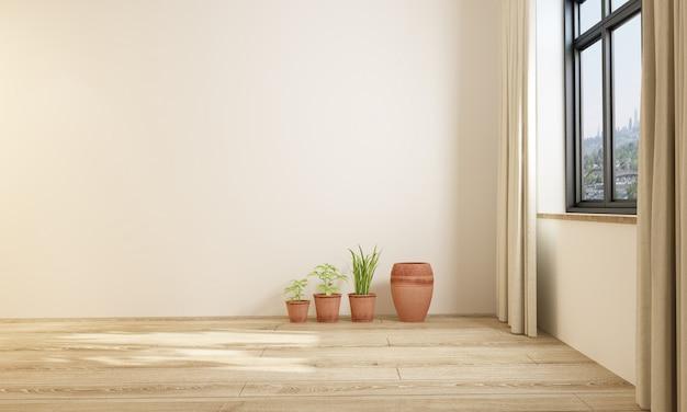 Moderne eenvoudige stijl indoor meubels blinde muur
