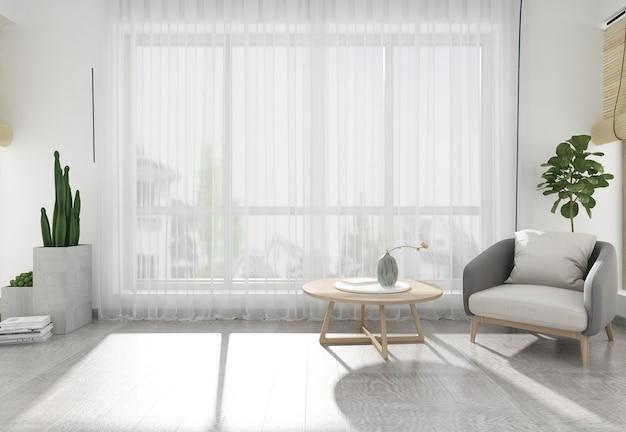Moderne eenvoudige wind huisweergave interieur renderings