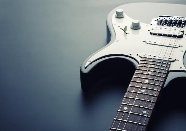 Moderne elektrische gitaar. getinte afbeelding