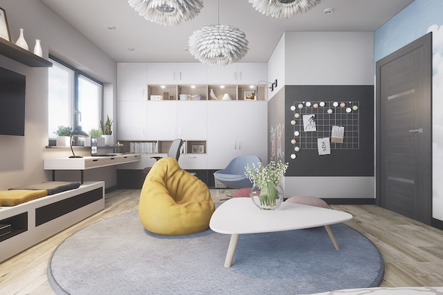 Moderne en stijlvolle kamer