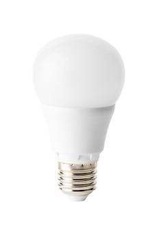 Moderne energiezuinige diodelamp die op witte achtergrond wordt geïsoleerd