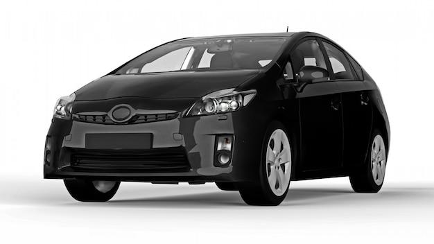 Moderne familie hybride zwarte auto
