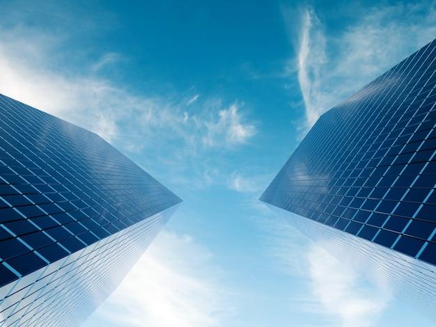 Moderne financiële onroerendgoedgebouwen voor zakelijke ondernemingen
