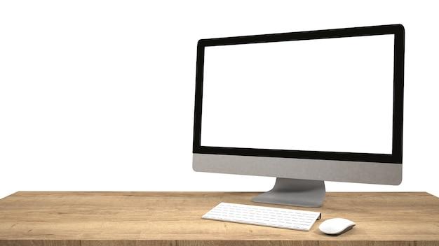 Moderne flatscreen computermonitor. computervertoning op witte achtergrond wordt geïsoleerd die.