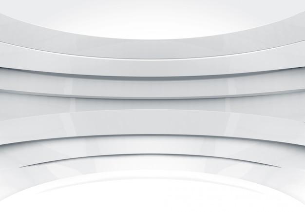 Moderne futuristische grijze curve paneel muur ontwerp koepel muur achtergrond.