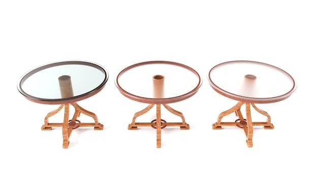 Moderne galss tafel geïsoleerd op een witte achtergrond 3d render