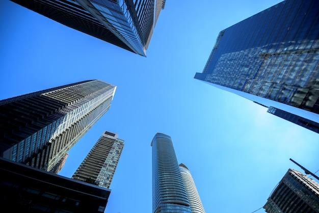 Moderne gebouwen in de stad toronto
