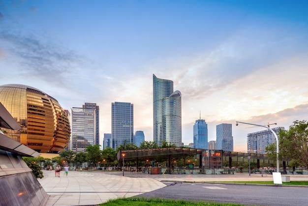 Moderne gebouwen in hangzhou china