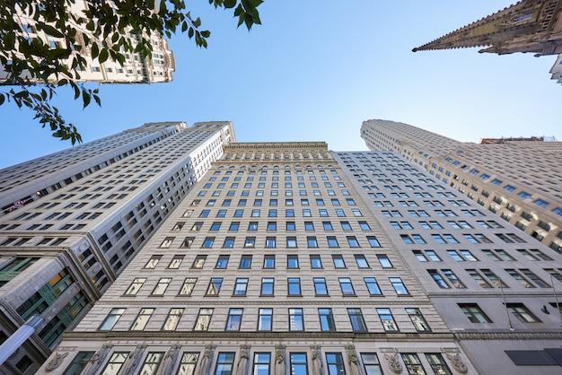 Moderne gebouwen in new york