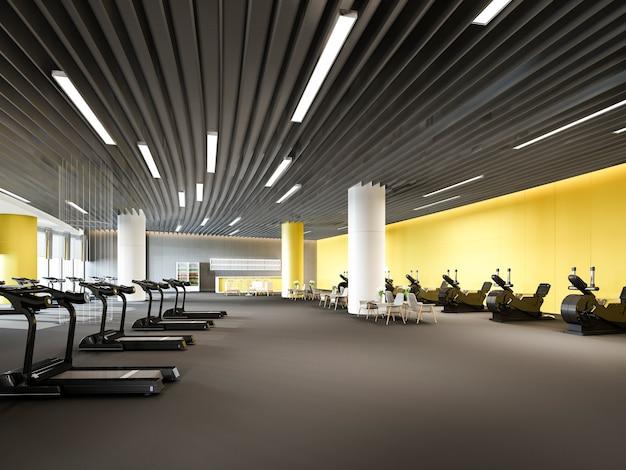 Moderne gele sportschool en fitness