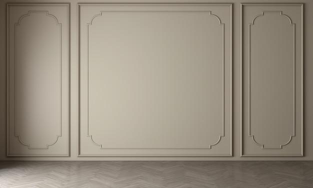 Moderne gezellige mock-up en decoratie meubels van woonkamer en houten muur textuur achtergrond 3d-rendering