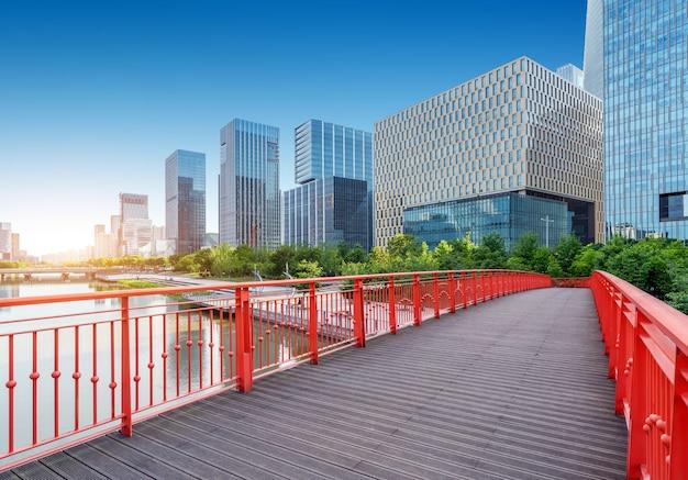 Moderne hoge gebouwen van de stad