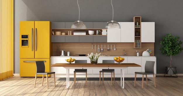 Moderne keuken met eettafel