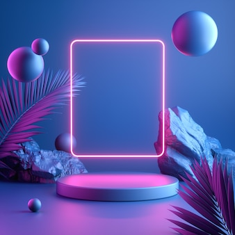 Moderne kleurrijke mockup-display