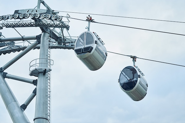 Moderne krachtige betrouwbare kabelbaan rusland moskou park vorobyovy gory.
