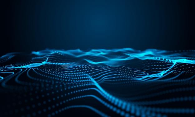 Moderne krommeeffect 3d blauwe achtergrond