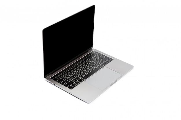 Moderne laptop computer die op wit wordt geïsoleerd