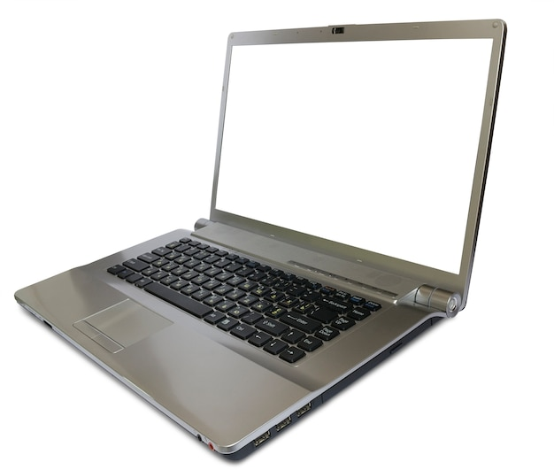 Moderne laptop geïsoleerd