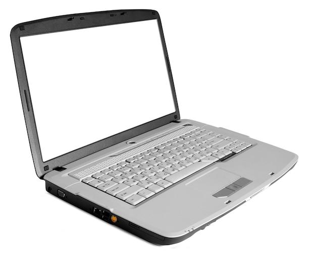 Moderne laptop op het wit
