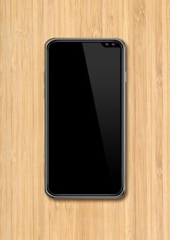 Moderne lege smartphone voor app-presentatie. 3d render
