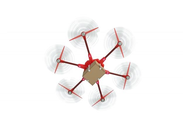 Moderne levering met drone