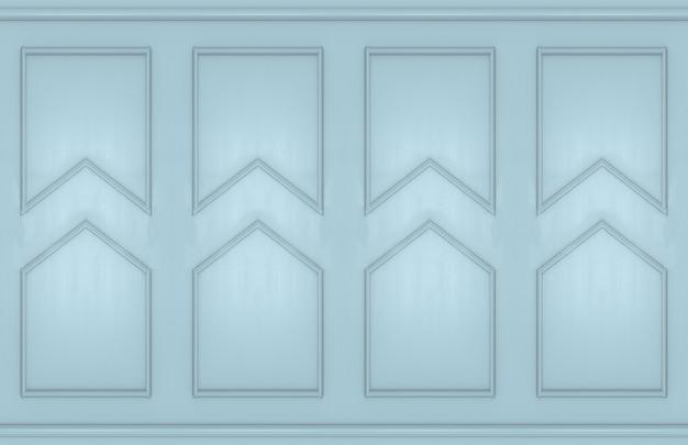 Moderne lichtblauwe vierkante klassieke muurontwerpachtergrond.